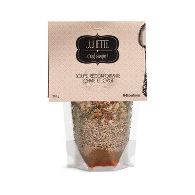 Juliette c'est simple Soupe réconfortante tomates et orge