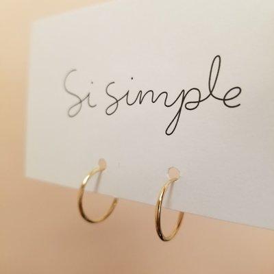 Si Simple Anneaux simples d'or rempli