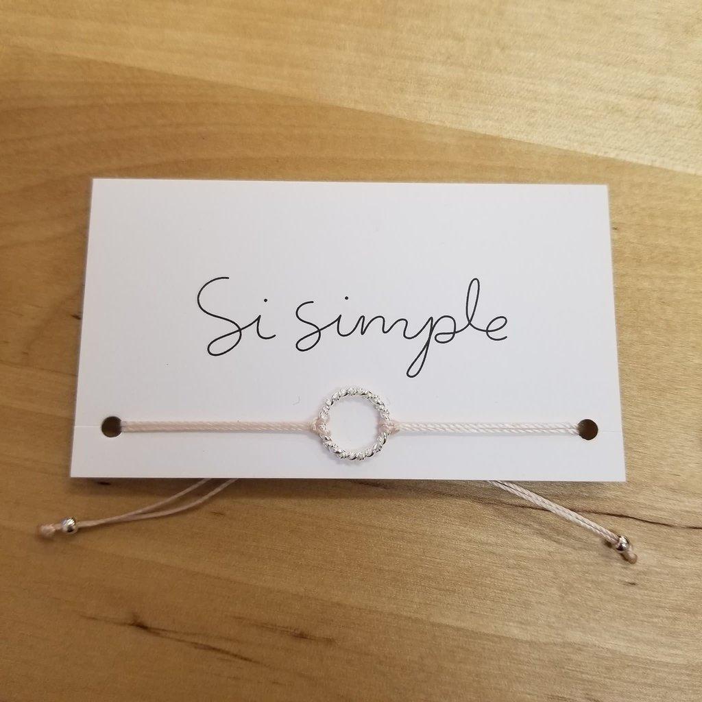 Si Simple Bracelet - Ring - Rose pâle