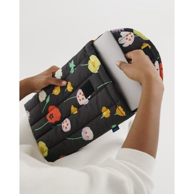 BAGGU Housse pour ordinateur portable gonflée - Fleurs