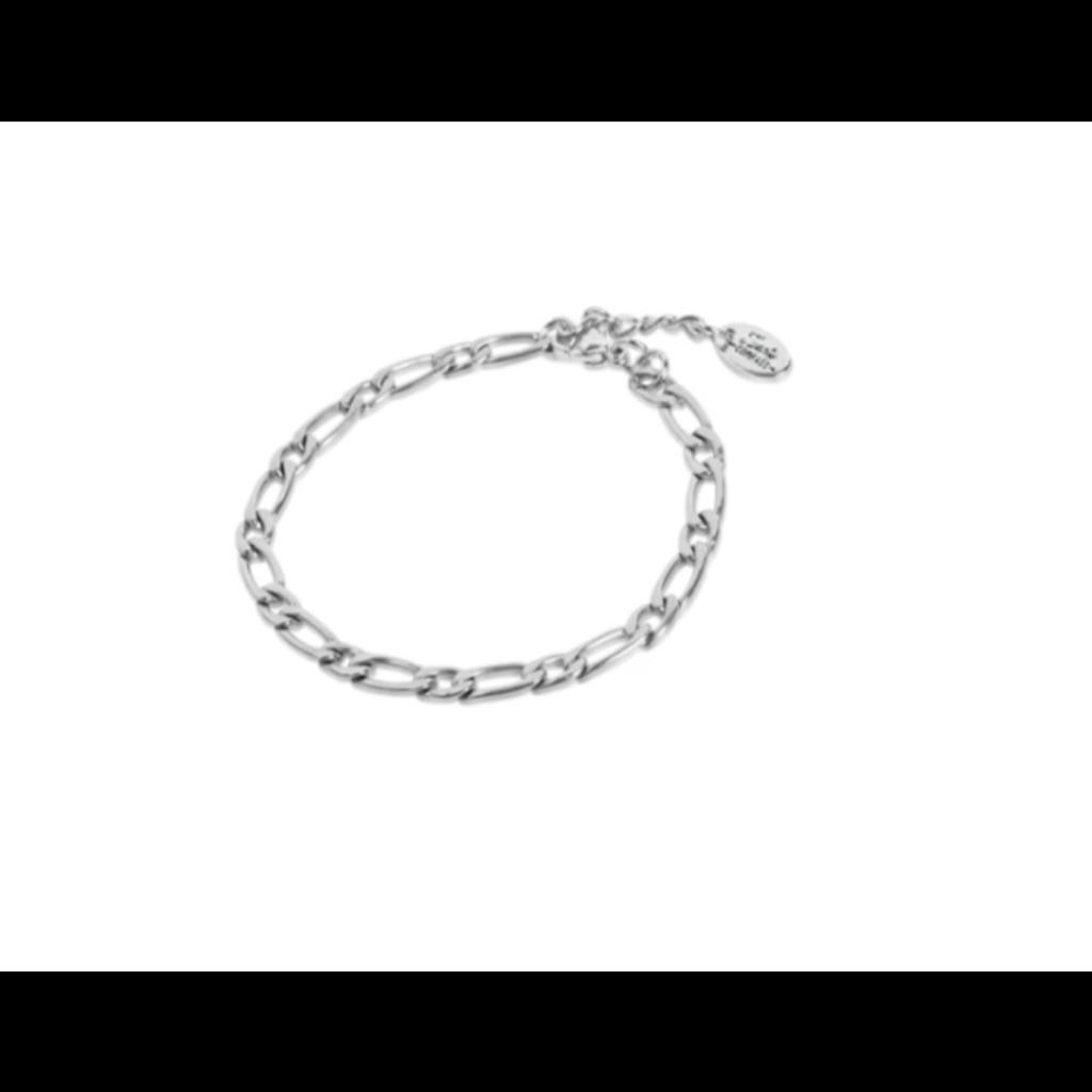 Twenty Compass Bracelet Figaro Bold - Argent