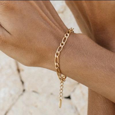 Twenty Compass Bracelet Figaro Bold - Or