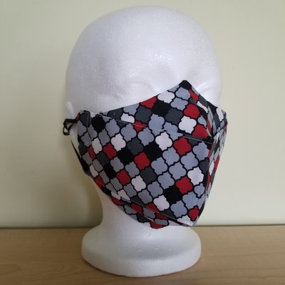 Maskalulu Masque - Rouge, noir & blanc