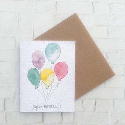 Kit de Survie Carte ensemencée - Ballons d'anniversaire