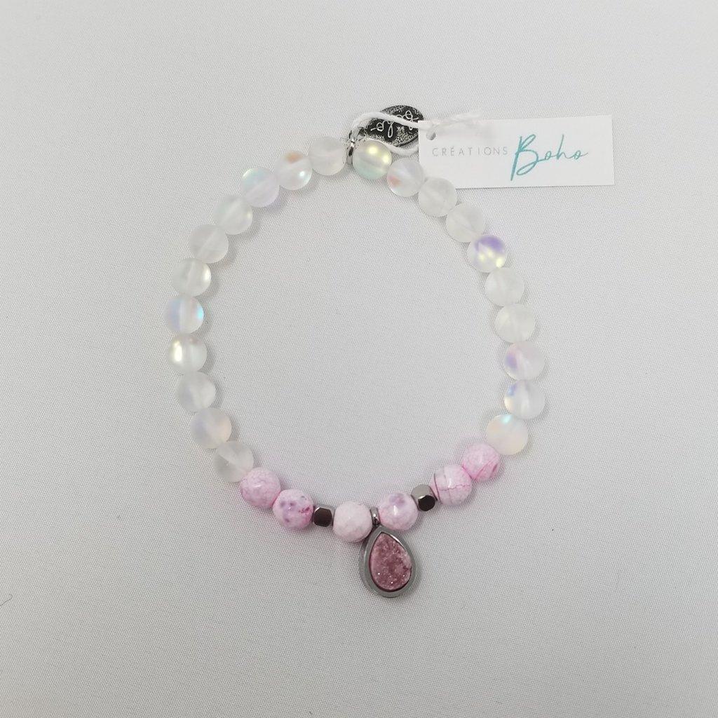 Créations boho Bracelet - Pink Lady