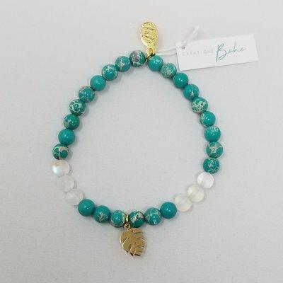 Créations boho Bracelet - Monstera