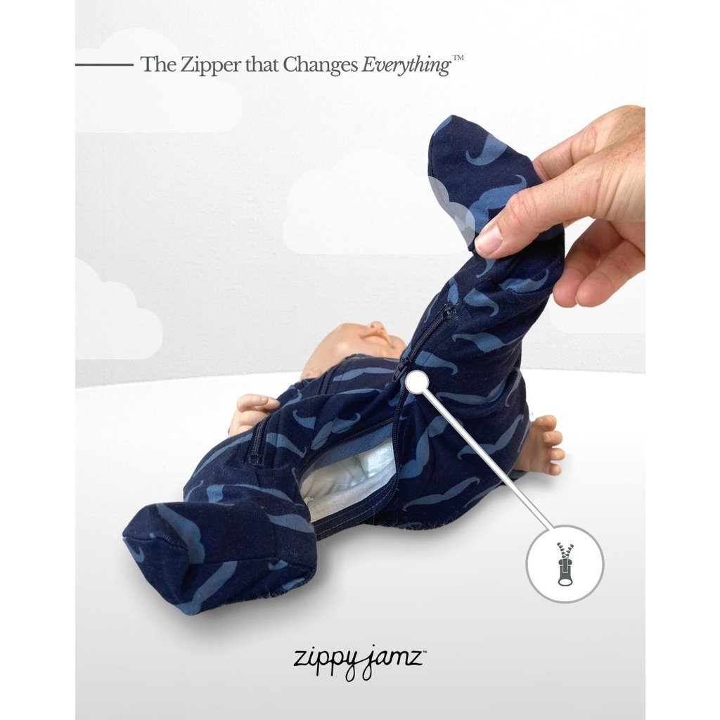 ZippyJamz Pyjama - Mr. Moustache