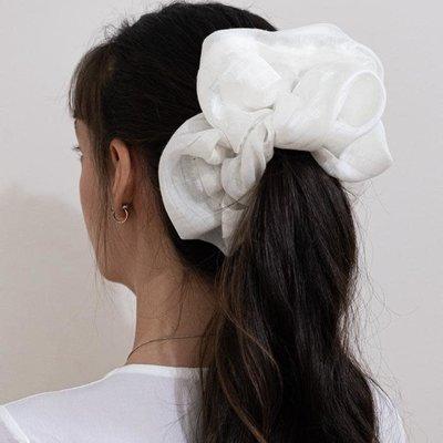 Enrose.bytu Chou à cheveux - Huge Icy XL