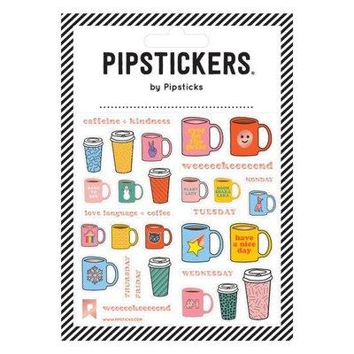 Pipstickers Autocollant - Café