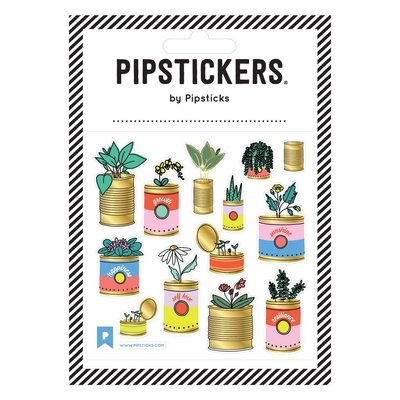 Pipstickers Autocollant - Fleurs dans une conserve