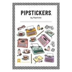 Pipstickers Autocollant - Dactylo et thé