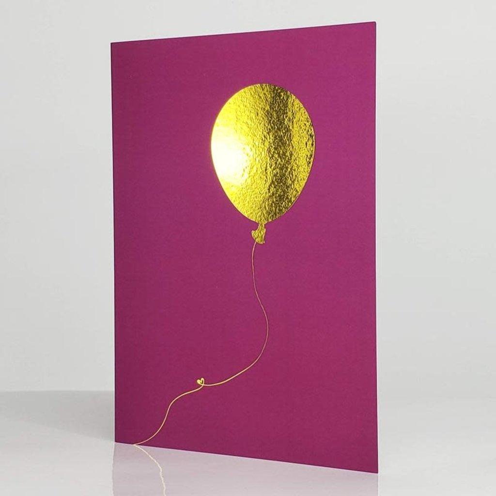 L'écrit reste... Carte - Ballon de vie magenta