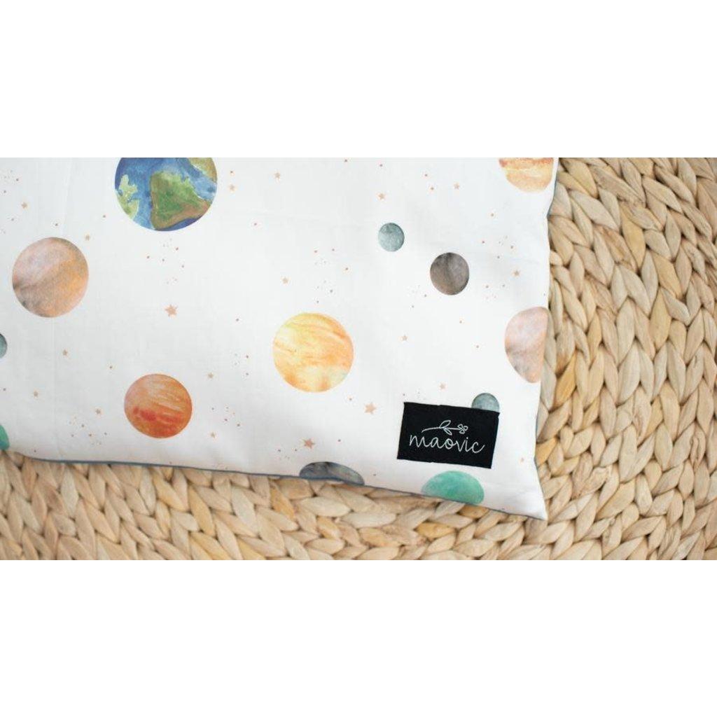 Maovic Oreiller en écales de sarrasin pour enfants - Planètes