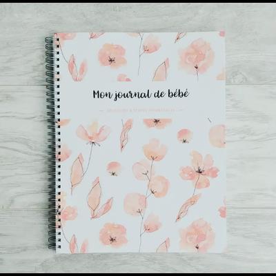 Moments ancrés Mon journal de bébé - Fleurs corails