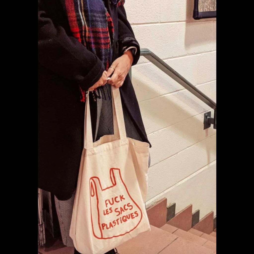 Mimi & August Fuck les sacs plastiques - Sac réutilisable