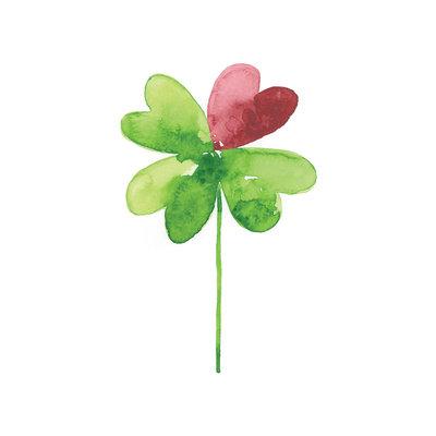 Stéphanie Renière Mini carte - Trèfle à quatre feuilles