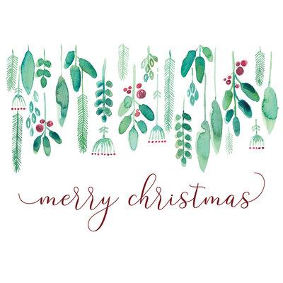Stéphanie Renière Mini carte - Merry Christmas