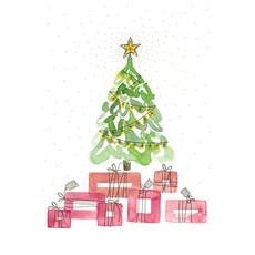 Stéphanie Renière Mini carte - Sapin de Noël