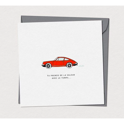 Mimosa Design Carte de souhaits -  Porsche