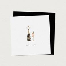 Mimosa Design Carte de souhaits - Pop le champagne!
