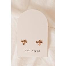 Mimi & August Boucles d'oreilles - Café