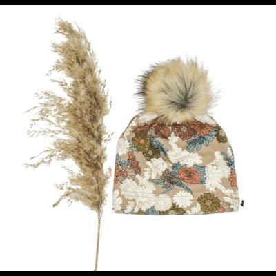 Little & Lively Tuque à pompon - Fleurs sauvages