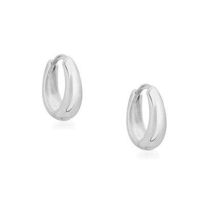 Twenty Compass Boucles d'oreilles - Mini anneaux Bold Argent