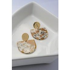 Boucle d'or Boucles d'oreilles - Jaune/orangé