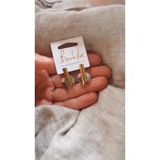 Boucle d'or Boucles d'oreilles - Cercle acrylique ivoire