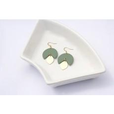 Boucle d'or Boucles d'oreilles - Cercle incomplet et goutte or