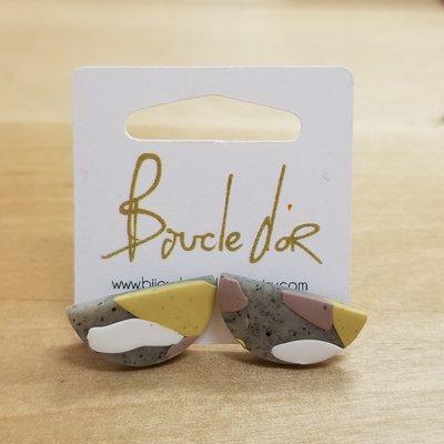 Boucle d'or Boucles d'oreilles - Demi-lunes terrazzo