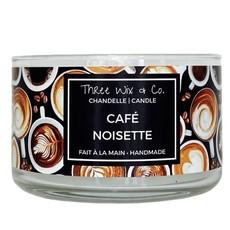 Three Wix & Co. Chandelle à trois mèches - Café & Noisette
