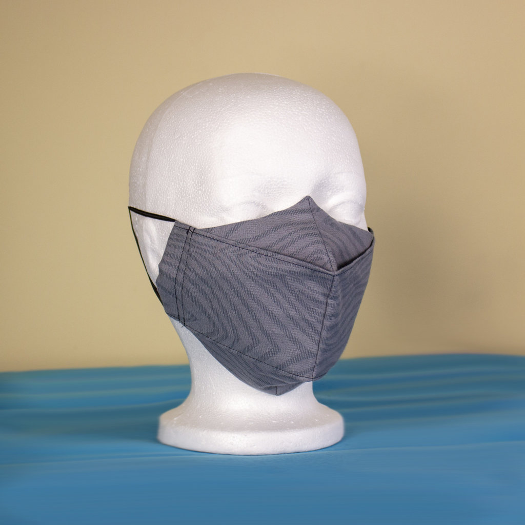 Maskalulu Masque anti-buée - Gris zebré