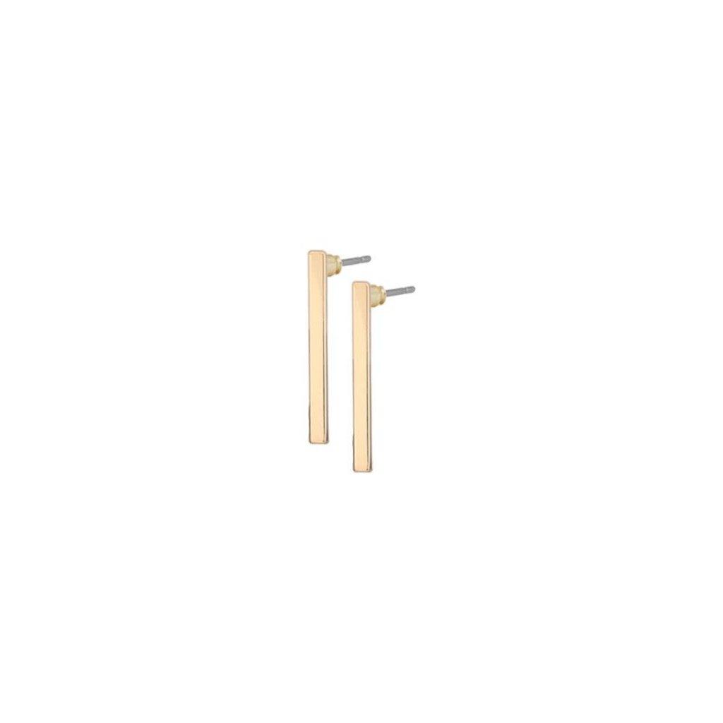 Caracol Boucles d'oreilles - Petits bâtons métalliques brillants