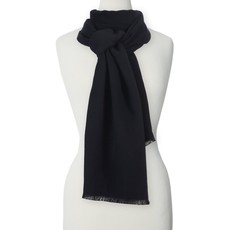 Caracol Foulard unisexe étroit Uni Noir