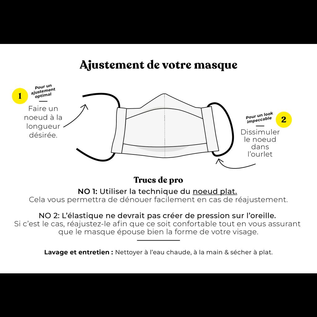 Augustin & Co. Masque - Série Artiste - Mélissa Lowry - Noir