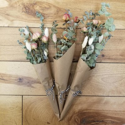Vert Bohème Mini bouquet de fleurs séchées