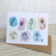 Kit de Survie Carte ensemencée - Fleurs sauvages