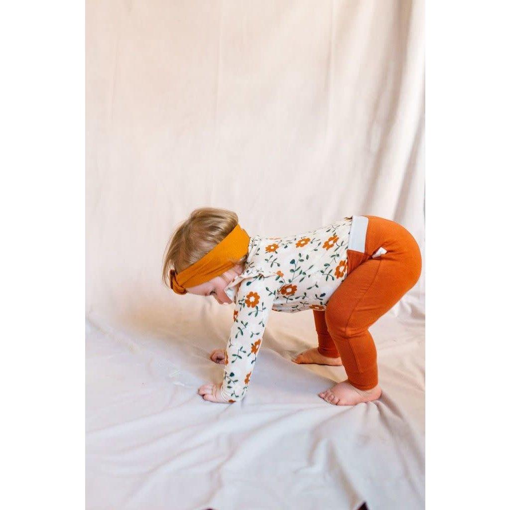 Loulou lollipop Pantalon bébé - Orange brûlé