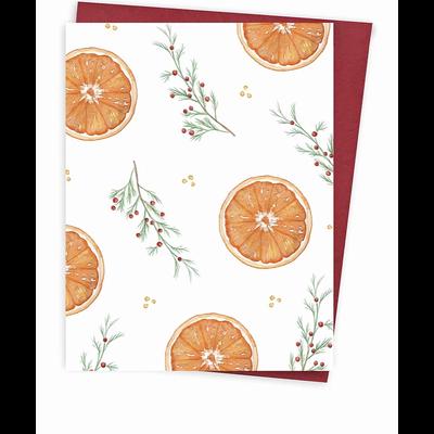 Hobeika Art Carte de Noël - Motif orange