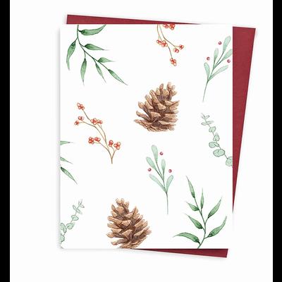 Hobeika Art Carte de Noël - Motif verdure