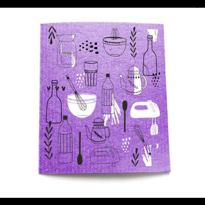 KLIIN Essuie-tout réutilisable - Outil de cuisine mauve
