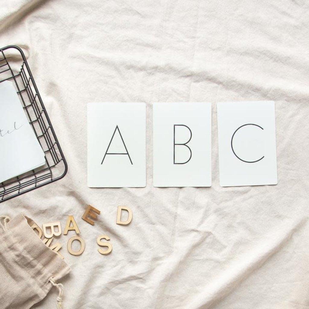 Pastel Cartes d'apprentissage résistantes - Lettres