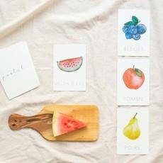 Pastel Cartes d'apprentissage résistantes - Fruits