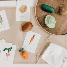 Pastel Cartes d'apprentissage résistantes - Légumes