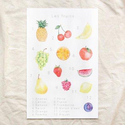 Pastel Affiche éducative & décorative - Fruits