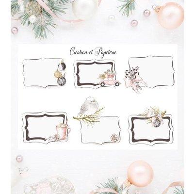 Création et Papeterie Autocollant - Étiquettes pour cadeaux de Noël