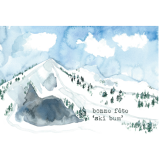 "Stéphanie Renière Carte - Bonne fête ""Ski Bum"""