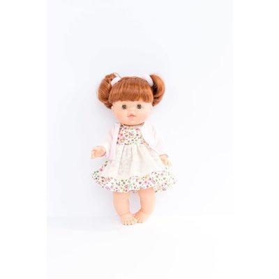 Paola Reina Vêtements pour poupée - Robe fleurie rose et veste