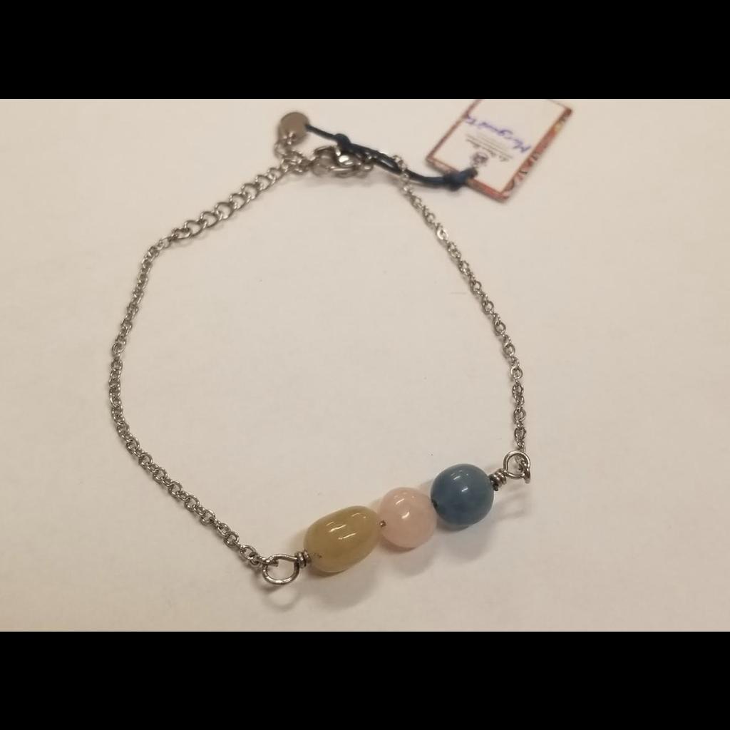 La Main Bleue Bracelet - Morganite